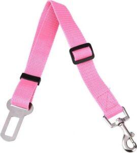 Autogordel Hond - Hondenriem - Gordel voor Dieren - Veiligheidsgordel voor Huisdieren - Hondengordel Auto - Riem voor Honden - Autoriem - Roze