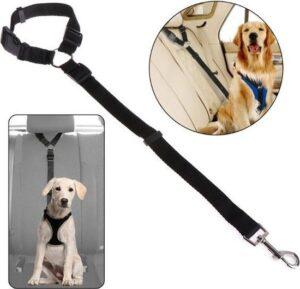 Autogordel Voor Hond - Hondengordel voor in de Auto – Verstelbare Hondengordel - Veiligheid Voor Hond – Hondenriem - Zwart