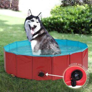 Bramble Hoogwaardige opvouwbare hondenzwembad 80x30 cm - Multifunctioneel - Perfect voor huisdieren, puppy's, katten of als kinderbadje, badkuip of ballenbad