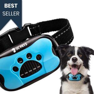 Diervriendelijke Anti-Blafband voor Grote en Kleine Honden – Blafband - Anti Blaf Apparaat – Geluid & Vibratie - Tril Correctie - Zonder Schok – Zwart - Waterproof en Verstelbaar