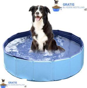 Dogs&Co Hondenbad - Hondenzwembad - Opvouwbare Dierenzwembad - honden badje -Voorzien van antislip aan de binnenkant - Verkoeling Voor Huisdieren 120x30cm