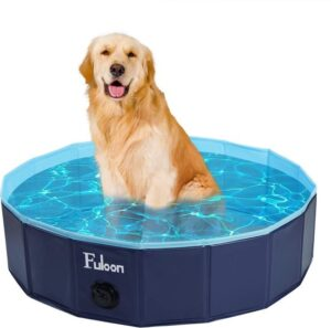 Fulon MyStud opvouwbaar hondenzwembad 160X30CM - EXTRA Stevig - Verkoeling voor huisdieren - Hondenbad - Honden zwembad – opvouwbaar zwembad