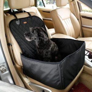 GadgetBay Hond autostoel cover huisdier zitje mand waterproof - Zwart