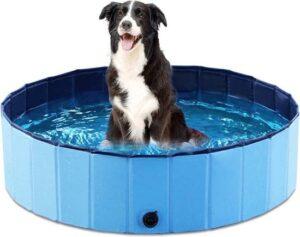 HBKS Zwembad - Hondenzwembad - Kinderzwembad - Babyzwembad - Speelzwembad - Speelkleed - Baby Speelgoed - 80x20 cm - Blauw