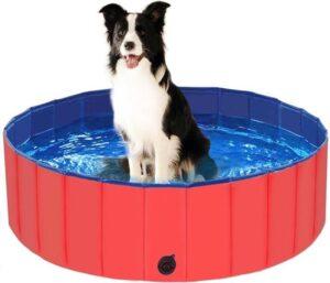 Hondenzwembad - Dog pool - Hondenbad - Huisdier - Verkoeling - Waterspeelgoed - Rood - PVC 80x80x30 cm