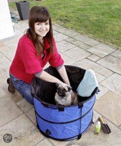 KARLIE Benche Doggy shower blauw kleine hond