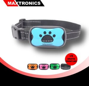MAXTRONICS™ Anti-blafband 7 niveaus - Incl. 2 batterijen en 5 gekleurde frontjes - Trainingsband – Opvoedingshalsband