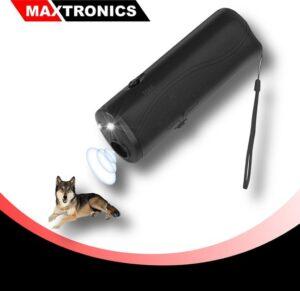 MAXTRONICS™ Diervriendelijke Ultrasone Anti-Blaf Apparaat - Alternatief Anti-Blafband - Inclusief 9V batterij - Zwart