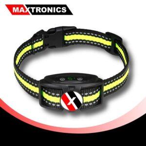 MAXTRONICS™ Premium Anti-blafband - Waterproof en Verstelbaar - Oplaadbaar - Vibratie en geluid - Zonder Schok - Diervriendelijk - Inclusief 2 bandjes - Geel-Blauw