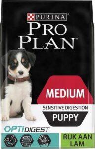 Pro Plan Medium Puppy Sensitive Digestion - Optidigest Lam - Hondenvoer - 12 kg