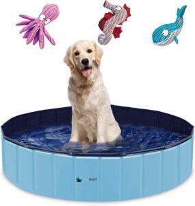 Splashbuddy opvouwbaar hondenzwembad 160X30CM - Hoge kwaliteit vezelplaten - Verkoeling voor huisdieren - Hondenbad - GRATIS KONG speeltje