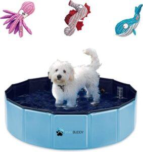 Splashbuddy opvouwbaar hondenzwembad 80X20CM - Hoge kwaliteit vezelplaten - Verkoeling voor huisdieren - Hondenbad - GRATIS KONG speeltje