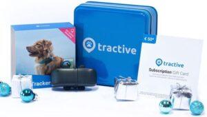 Tractive Geschenkbundel met 1 jaar abonnement Tractive GPS Hond - Halsband - GPS tracker met activiteitstracking
