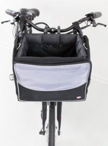 Trixie Fietsmand Voor Aan Stuur Nylon Zwart - Grijs - 41X26X26 CM