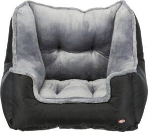 Trixie autostoel zwart - grijs 50x50x40 cm