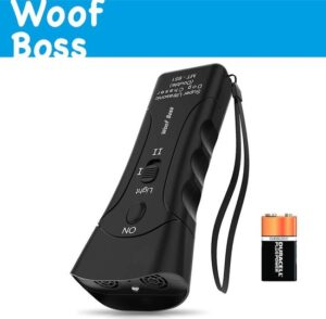 WOOF Boss® Diervriendelijk Anti Blaf Apparaat - 2020 - Anti-blafband - Blafband - Ultrasone frequentie - Anti-Blaf