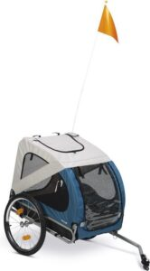 Beeztees Barino - Hondenfietskar - Grijs - Turquoise - 125 cm