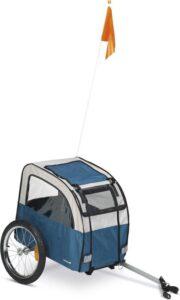 Beeztees Fortimo - Hondenfietskar - Grijs - Turquoise - 109 cm