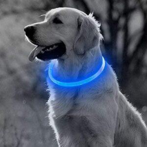 Blauwe LED Halsband voor honden Medium