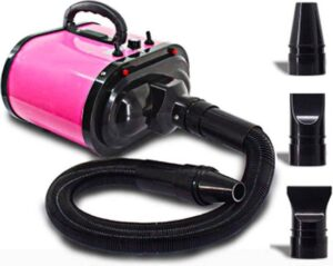 Buxibo Hondenföhn - 500W-3400W - Incl. 3 Opzetstukken - Roze