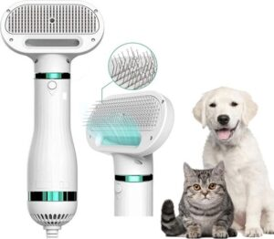 Dhoker - Dieren föhn - haardroger – hondenhaardroger - 2 in 1 kam – haarverzorging – dierenverzorging – hondenfohn met kam – hondenfohn - pet grooming – pet hair dryer.