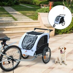 Doggycar 2-in-1 Hondenfietskar Hondenbuggy - Fiets Hondenkar Wandelwagen