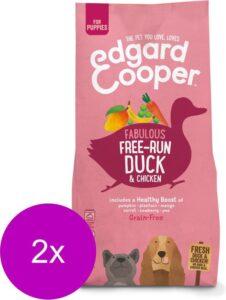 Edgard & Cooper Verse Scharreleend & kip Puppy - Hondenvoer - 2 x 7kg