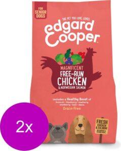 Edgard & Cooper Verse scharrelkip & Noorse zalm Brok - Voor senior honden - Hondenvoer - 2 x 2.5kg