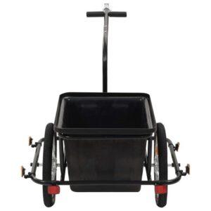 Fietskar met Tas 2 wielen - Aanhangwagen Fiets met opbergzak - Fiets bagage kar - Hondenfietskar