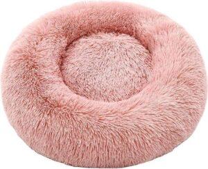 Fluffy Friend kattenmand - hondenmand - 100 cm - hondenkussen - kattenkussen - extra zacht - gezond en comfortabel - hondenbed - kattenbed - Roze