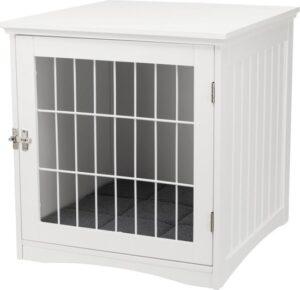 Home kamer- Kennel hondenbench voor honden en katten, S 48 × 51 × 51 cm wit