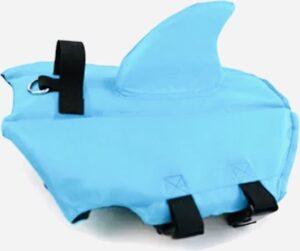 Honden zwemvest Haai - Zwemvest voor honden - Blauw - Maat XS
