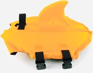 Honden zwemvest Haai - Zwemvest voor honden - Oranje - Maat S