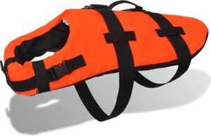 Honden zwemvest (Incl veiligheidsvest) Oranje Maat L - Zwemvest honden - Reddingsvest hond
