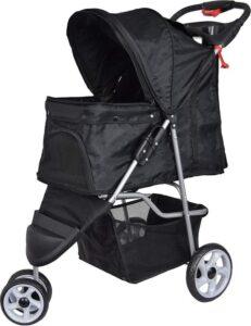 Hondenbuggy Zwart 3-wieler - Dogs&Co