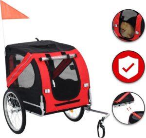 Hondenfietskar Hondenbuggy Fietskar Hond - Hondenkar voor Fiets - Met Regenhoes - Veilig en Comfortabel - Voor Honden tot Maximaal 30kg