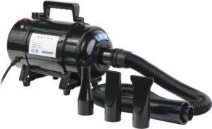 Hondenföhn-Waterblazer - Verstelbare Vermogen standen (500W tot 2400W) en Verstelbare Temperatuur - Zwart