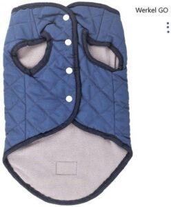Hondenjas - Blauw - Maat L - Hondenkleding - Winter - Koud - Warm - Hond - Huisdier - Jas - Polyester - Dog Vest Luxery
