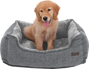 Kleine wasbare hondenmand met afneembare hoes