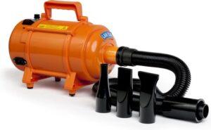 Krachtige Hondenfohn - Waterblazer met Draaiknop om Overtollig Water en Stof Snel Uit de Vacht te Blazen - Verstelbare Vermogen standen 500W tot 2400W en Verstelbare Temperatuur - Type B Oranje