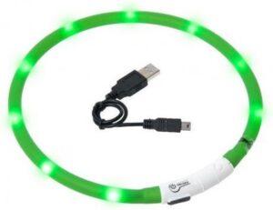 LED Honden Halsband Groen - Oplaadbaar - 20 tot 70 cm