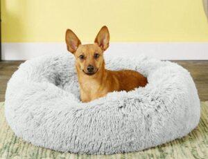 Levay Hondenmand - hondenkussen fluffy donut - diameter 100cm - grijs