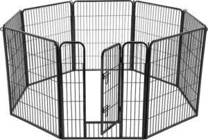 MIRA Home Huisdierenbox – Kennel – Basic – Metaal – Zwart - 77x100