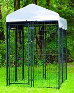 MaxxPet Hondenkennel Afneembaar Dak - Dierenverblijf - Zwart - 1,2 x 1,2 x 1,8 m
