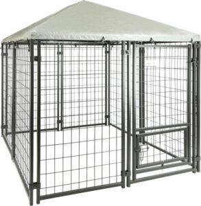 MaxxPet Hondenkennel Afneembaar Dak - Dierenverblijf - Zwart - 1,5 x 1,5 x 1,5 m