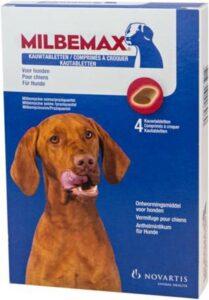 Milbemax Kauwtabletten Voor Honden Groot Chewy 4 tabl.