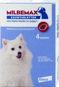Milbemax Ontworming Kauwtablet Kleine Hond en Puppy 4 tabletten