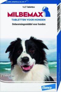 Milbemax voor grote honden Anti wormenmiddel - 10 Tot 50 kg - 2 tabletten