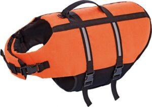 Nobby hondenzwemvest met handlus - Oranje - Maat M
