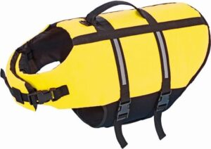 Nobby hondenzwemvest met handlus - geel - maat s - 30 cm